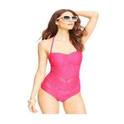 Jessica Simpson Crochet Bandeau One-Piece Swimsuit Women's Swimsuit Large