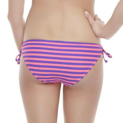 Joe Boxer Women's Keyhole Bikini Bottoms - Polka Dot & Striped Large