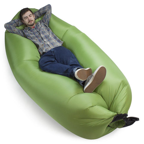 Inflatable Waterproof Camping Couch by Grizzly Peak Moss