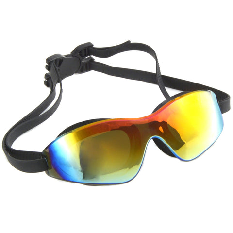 793b3e8a4ddd HZman Adult Tinted Swim Goggles with Protective Case Anti-fog and UV  Protection for Men