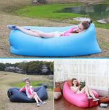Jessica V Inflatable Air Lounger Hangout Beach Couch Sofa with Portable Carry Bag Outdoor Bean Bag Chair Air Hammock - Red