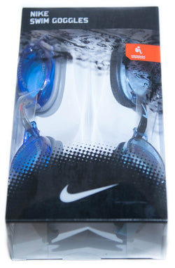 Nike 2 Pack Blue Swim Goggles With Adjustable Nose Piece