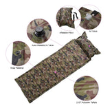 TOMSHOO Outdoor Camping Thick Automatic Inflatable Mattress Self-Inflating Tent Mat Picnic Mat with Pillow Camouflage