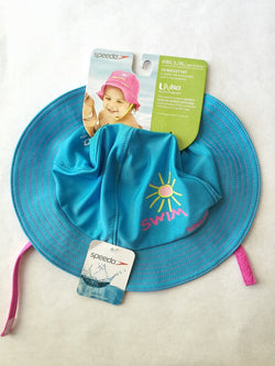 597d37d0cd12a Speedo UV50+ Kids Toddler Baby Bucket Hat Large  Extra Large L XL 12-