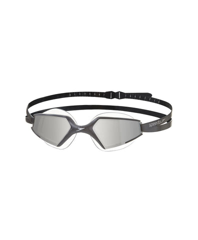 Speedo  Aquapulse Max Mirror 2 Goggles-Unisex-Adult Size,Black/Silver