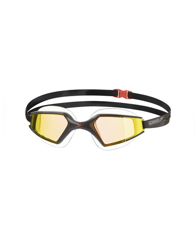 Speedo  Aquapulse Max Mirror 2 Goggles-Unisex-Adult Size,Black/Orange/Gold