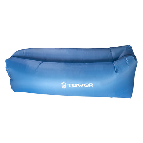 Inflatable Lounger Air Chair for Outdoors Beach Pool & Camping with Carry Bag by Tower