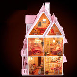 BOHS Diy Wooden Doll House Sun Alice Birthday Gift Presents Large Villa Manual Building Model Dioramas