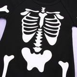 Baby Boys Costume Skeleton Glow Romper Long Sleeve Infant Clothing Kids Jumpsuit Overalls Newborn  Playsuit Outfits