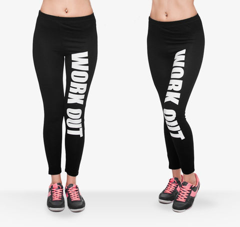 Fashion Stretch Leggings Weeds White Stripes Printing Fitness legging Sexy Silm legins High Waist Trouser Women Pants