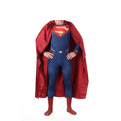 High Quality Superman Spandex Suit Costume Blue Zentai Suit Superman Costume Adult Spandex Cosplay Superhero Movie Costumes