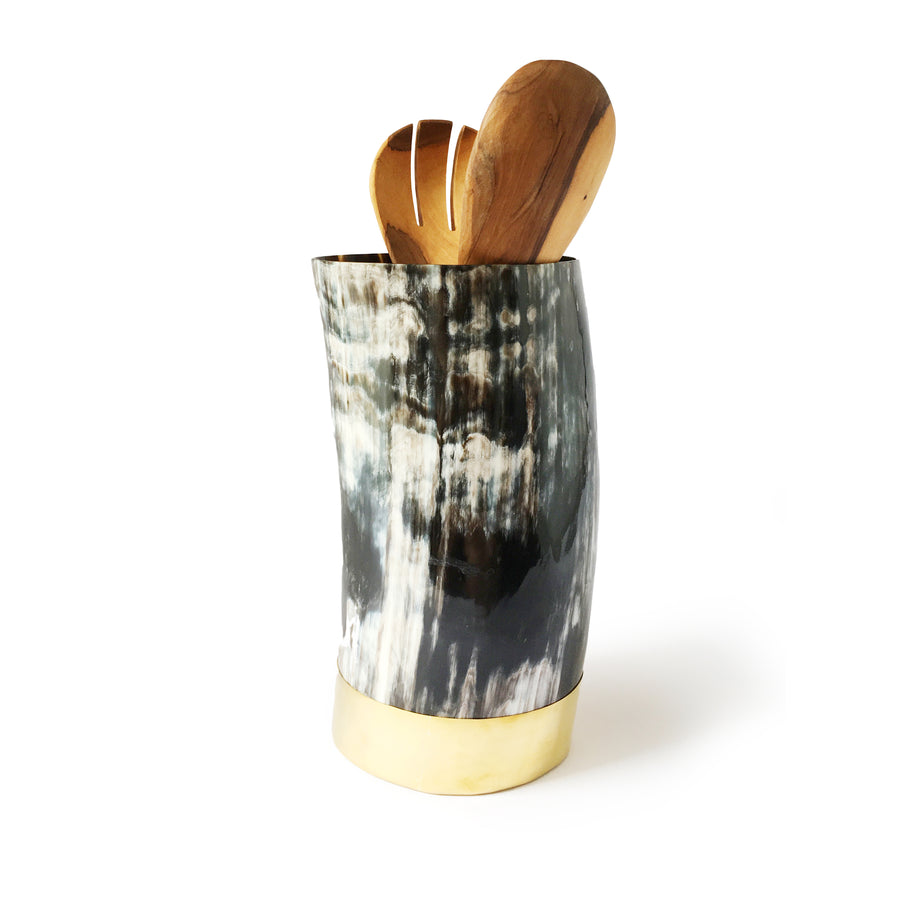 ANKOLE TALL VESSEL -DARK GRAIN