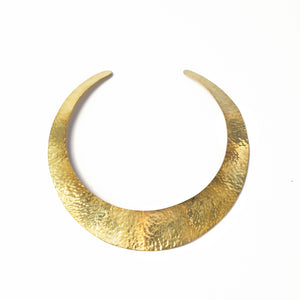 HAMMERED GOLD PLATED NECKLACE