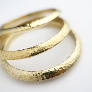 SLIM HAMMERED BANGLES