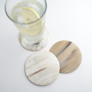 ANKOLE COASTER SET- LIGHT GRAIN