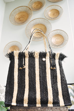 MILIA STRIPE TOTE BAG