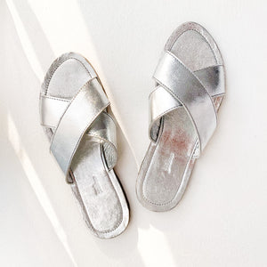 SILVER CROSS SANDALS - Ashepa Lifestyle