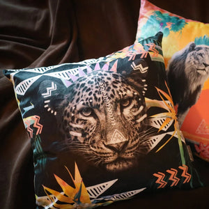 FIERCE LEOPARD CUSHION