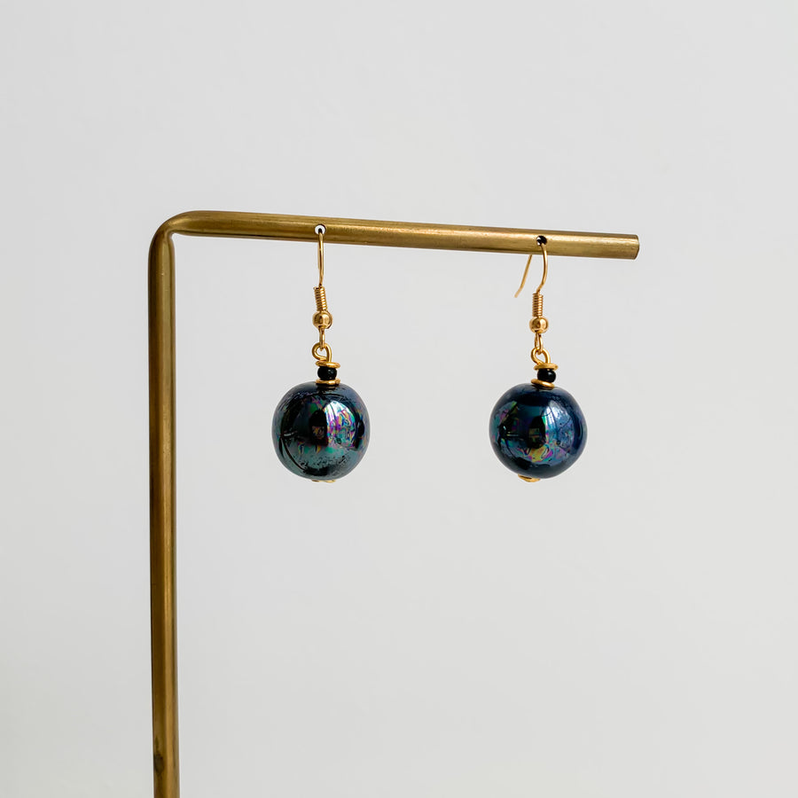 WATAMU METALLIC BLUE EARRINGS