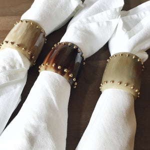 ANKOLE STUD NAPKIN RINGS- SET OF 4