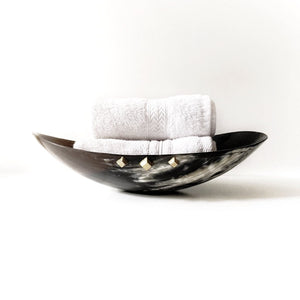 ANKOLE DISPLAY BOWL- DARK GRAIN