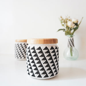 MAA BEADED STORAGE POT - Ashepa Lifestyle