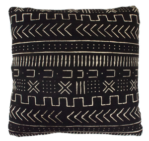 BLACK MUDCLOTH CUSHION