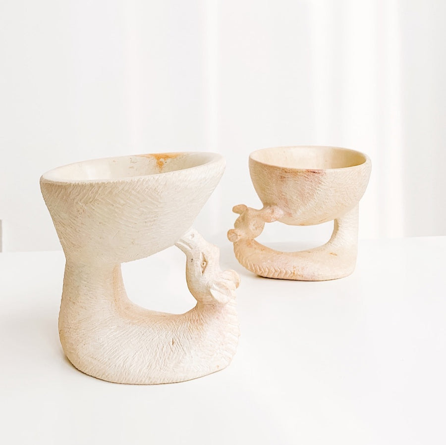 MINI SOAPSTONE GIRAFFE POT - Ashepa Lifestyle