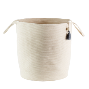 IVORY FLOOR BASKET LARGE - Ashepa Lifestyle
