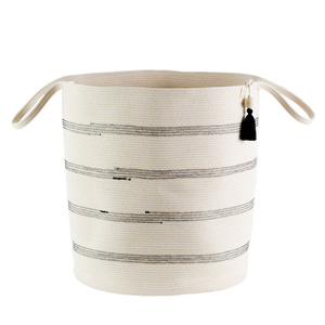STRIPE FLOOR BASKET LARGE