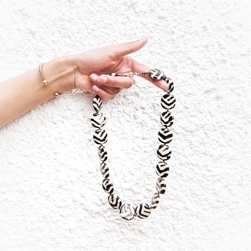 KAZURI ZEBRA NECKLACE - Ashepa Lifestyle