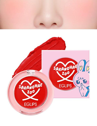 Eglips - NEW Saranghae Zoo Velvet Blusher 03 Sunshine Red