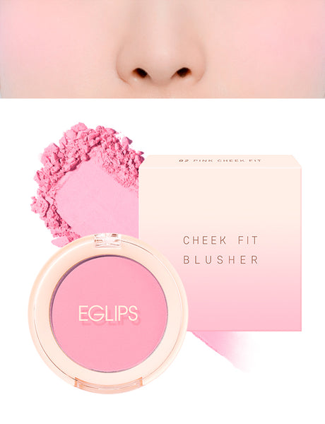 Eglips - Cheek Fit Blusher 02 Pink
