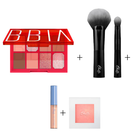 BBIA - Final Shadow Palette 02 Kpop Star + BBIA Multi Blending Brush Set + BBIA Last Eye Primer + BBIA Last Highlighter