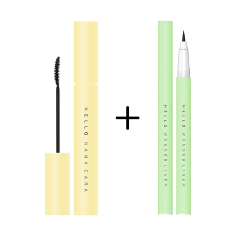 [EXCLUSIVE SET] EGLIPS HELLO NANA CARA 01 BLACK + EGLIPS HELLO WONDER LINER 01 BLACK