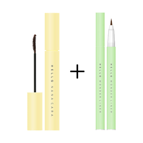 [EXCLUSIVE SET] EGLIPS HELLO NANA CARA 02 BROWN + EGLIPS HELLO WONDER LINER 03 SOFT BROWN