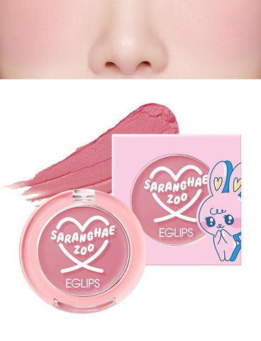 Eglips - NEW Saranghae Zoo Velvet Blusher 06 Twilight Pink