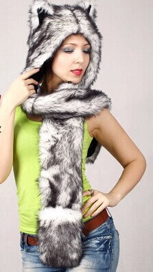 Ear hat Husky  Autumn and winter cap