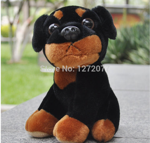 "7"" Rottweiler Dog Stuffed Plush Toy, Baby Kids Doll Gift Free Shipping"
