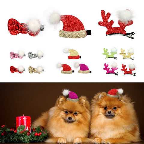 Dogs Bowknot Headwear Clips For Christmas