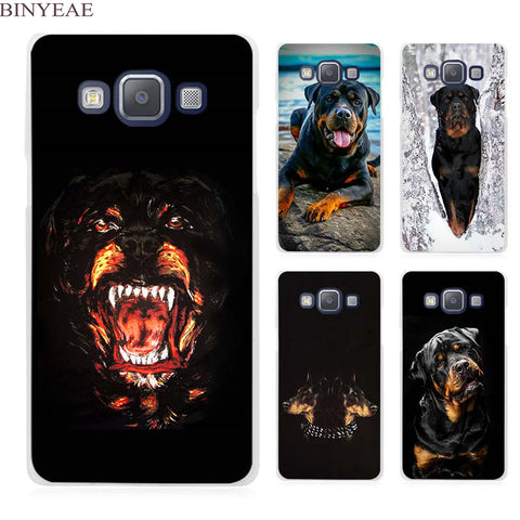 Rottweiler Clear Transparent Cell Phone Case for Samsung