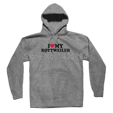 I Heart My Rottweiler Mens & Womens Long Sleeve Hoodies Sweatshirts