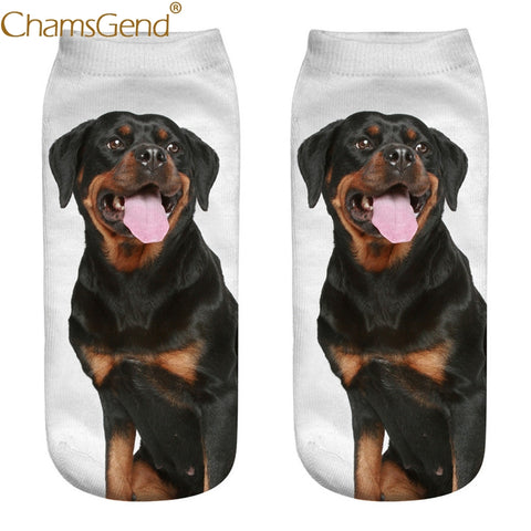 Rottweiler Dog 3D Female Socks