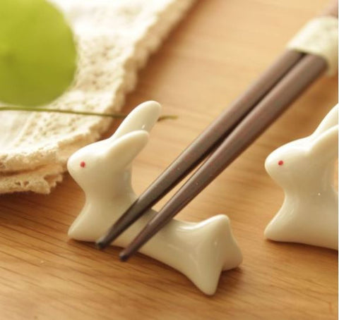 Bunny chopstick holders (a set of 5)