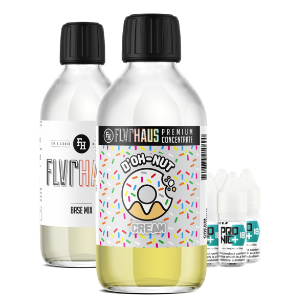 FLVRHAUS Eliquid Bundle - D'OH-NUT Cream - 250ml - MADE TO ORDER, SHIPS NEXT DAY