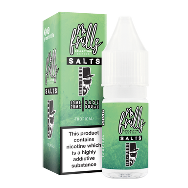 No Frills Salts - 99.1% Pure: Tropical Nic Salt 10ml