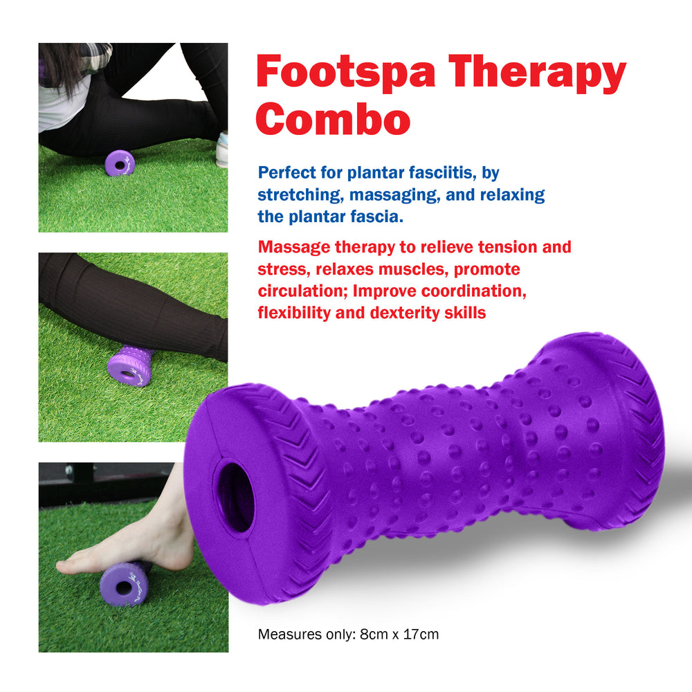Footspa Pro Therphy Combo, Foot Massager and Red Porcupine Massage Ball Bundle