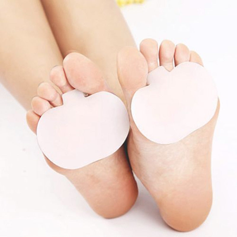1Pair Silicone Gel Metatarsal Pads for Shoes Sore Ball Foot Care Tool Feet Pain Shoes Insoles Pads Cushion Forefoot Arch Support
