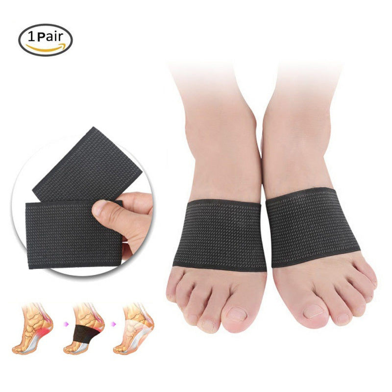 1pair Plantar Fasciitis Support Compression Arch Support Brace Flat Feet Foot Pain Heel Spurs High Arch