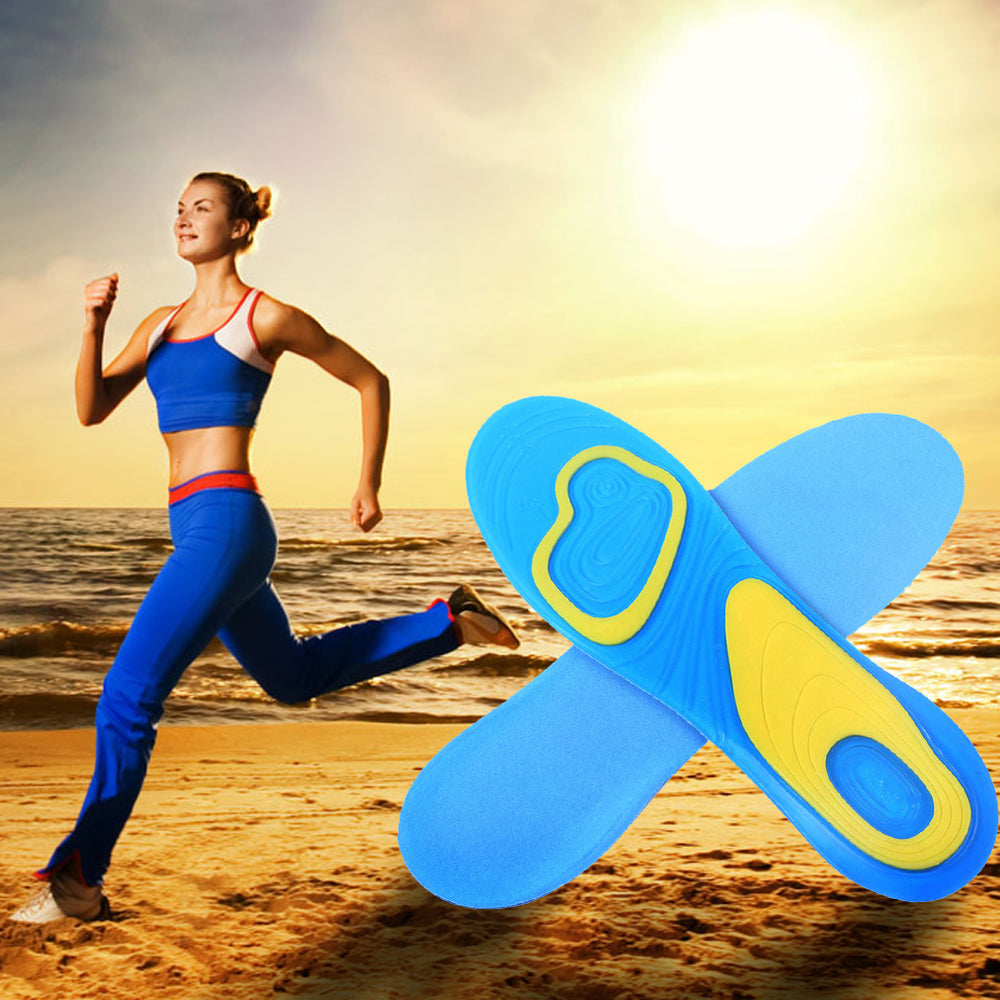Silicon Gel Insoles Foot Care Plantar Fasciitis Heel Spur Running Sport Insoles Shock Absorption Pads arch orthopedic insole